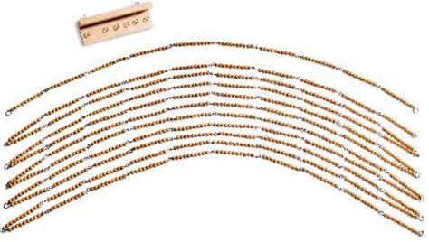 lenwelt de hunderter und tausenderkette goldenes perlenmaterial 12