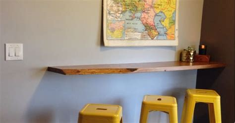 Floating Breakfast Bar, wall mounted breakfast bar