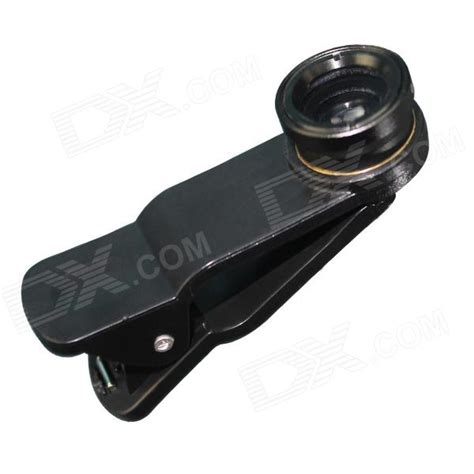Clip Lens Universal universal clip lens wide angle macro fisheye lens set black free shipping dealextreme