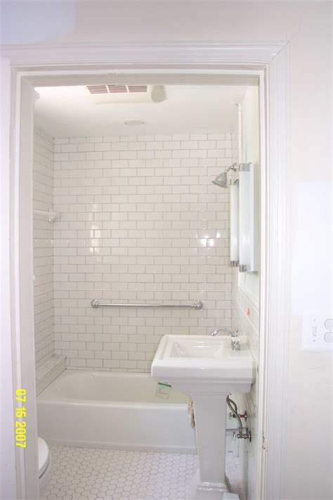 White Bathroom Tile Ideas Bathroom Cool Picture Of Small White Bathroom Decoration Using White Brick Daltile Subway Tile