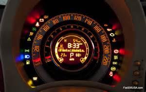Fiat 500 Symbols A Look At The Fiat 500 Instrument Panel Fiat 500 Usa