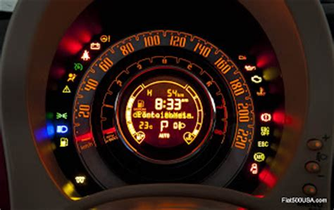 fiat 500 warning lights a look at the fiat 500 instrument panel fiat 500 usa