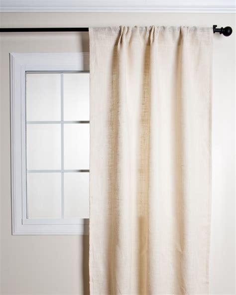 Lined Burlap Curtains Burlap Lined Curtain Transitional Curtains By For The Home And More