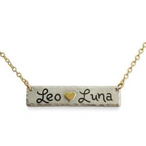 name bar necklace by isabelle grace jewelry