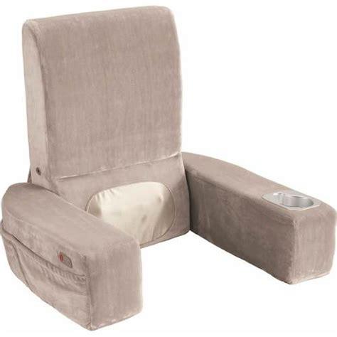 nap bed rest pillow brookstone brookstone nap shiatsu massaging bed rest gray 973066