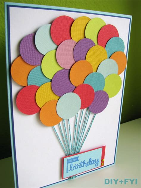 Ideas Handmade Birthday Cards - birthday card diy fyi creatively created