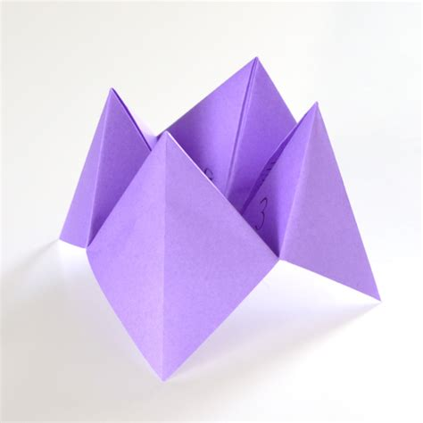 How To Make Fortune Teller Origami - fold a fortune teller easy origami tutorial a