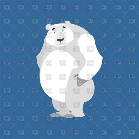 sad polar on blue background royalty free vector clip image 149778 rfclipart