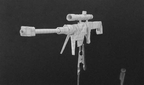 Origami Gun - origami guns sniper rifle by solidmark on deviantart