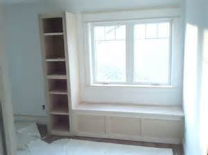 window seat and bookshelves handmade window seat built in bookshelves by driscoll s
