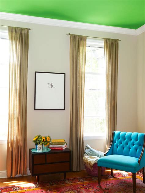 paint a bold color on your ceiling home remodeling