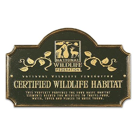 backyard habitat certification certified wildlife habitat sign shop nwf