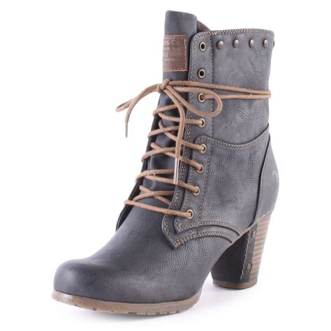 grey boots mustang 1102602 womens ankle boots in grey