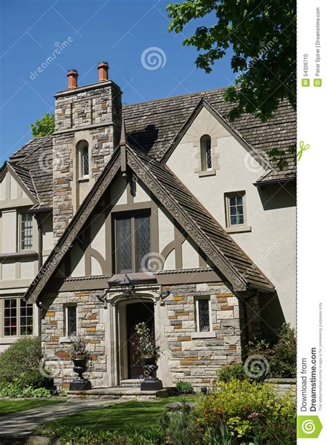 tudor style tudor style house entrance stock photo image 54326710