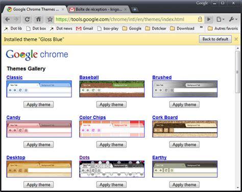 changer les themes de google chrome changer le th 232 me de google chrome portail francophone d