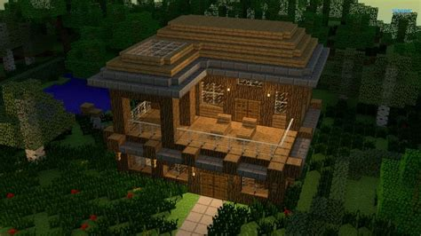 Fancy Minecraft Houses by Fancy Wood House Minecraft Houses