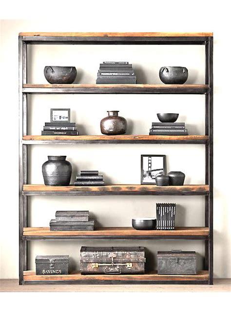 librerie in legno grezzo libreria modello pavese in ferro e legno grezzo xlab