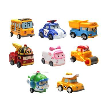 Mainan Edukasi Jam Mobil jual enandem robocar poli set mainan mobil anak 8 pcs
