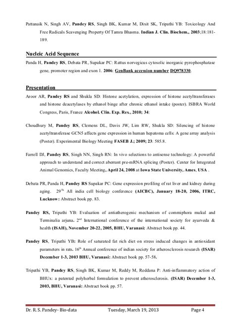 Cover Letter For Biochemist Position by Dr Ravi S Pandey Resume For Assistant Professor Research
