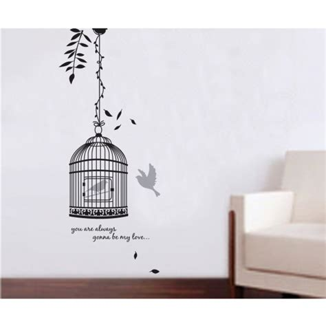 size wall stickers cage wall sticker 130x50cm size jm8218