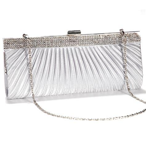 Cluth Bag Import 1672 new satin steel diamante evening clutch bag prom bridal purse ebay