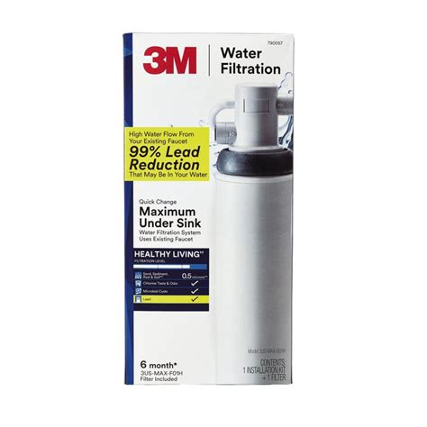 under sink water heater lowes shop 3m single stage under sink water filtration system at