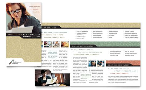 for bookkeeping services template bookkeeping accounting services brochure template design