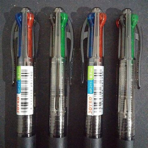 Pen Pulpen Joyko 1 jual pen ballpen joyko quaco 4 warna bp 213 stationery