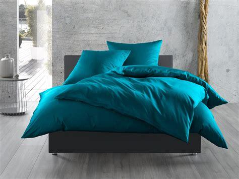 einfarbige bettwaesche petrolblau bettwaesche mit stil