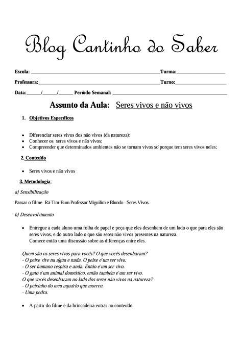 Arquivos Planos de aulas (Diário e Semanal) - Atividades