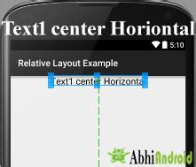 android layout vertical center relative layout in android with exle