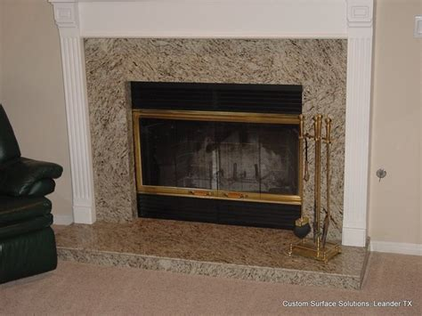 fireplace granite tile traditional family room
