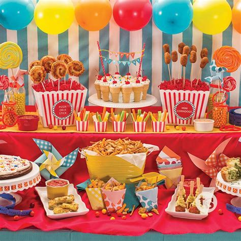 carnival themed party food fun food on a stick birthday party menu fun food and