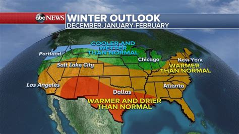 noaa weather forecast winter winter weather forecast shows colder wetter north and