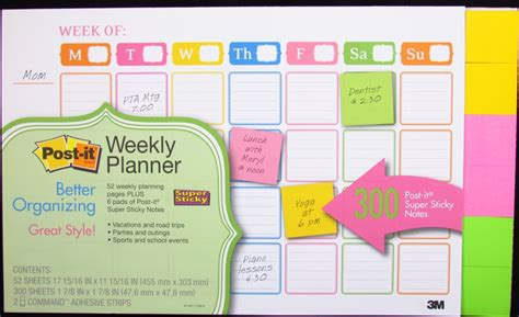 planner online post it weekly planner calendar review officesupplygeek