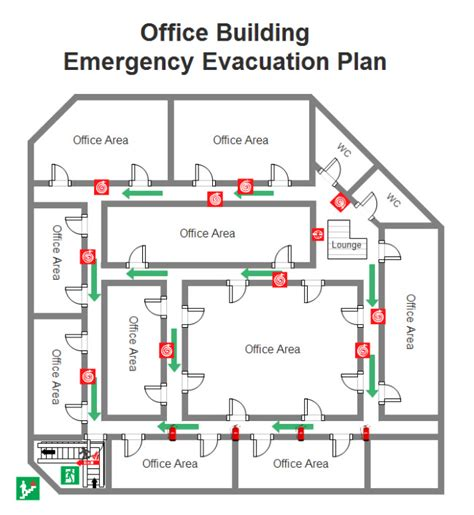 evacuation plan template for office templates resume