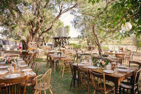 rochelle and gordon s rustic outdoor wedding weddbook