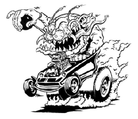 hot rod rat fink coloring coloring pages