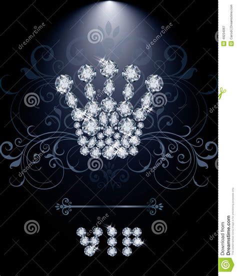 Diamond Gift Card - diamond queen crown vip gift card stock vector image 49234067