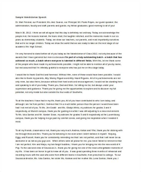 valedictorian speech template 7 valedictorian speech exles sles word