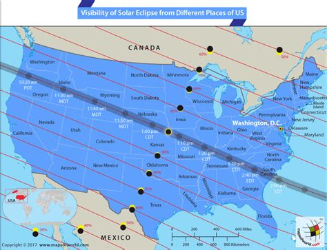 map usa eclipse 2017 total solar eclipse 2017 10 best places to the
