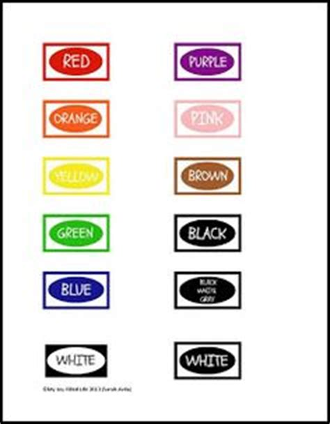 4 best images of crayon color words printable coloring