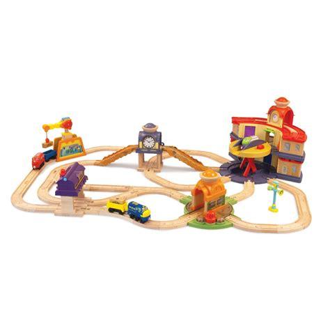chuggington brio chuggington wooden railway all around trainee set at toystop