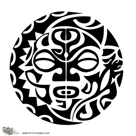 polynesian sun tattoo designs of sun and moon the two halves of heaven