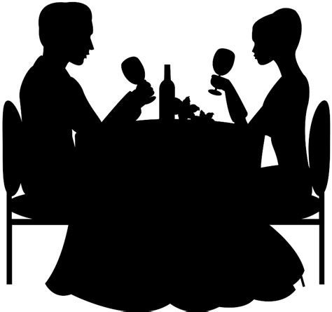 dinner silhouette dinner silhouette free vector silhouettes