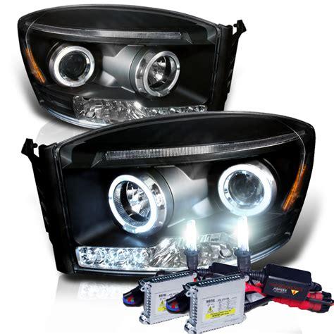 dodge ram hid lights hid xenon 06 08 dodge ram truck angel eye halo led