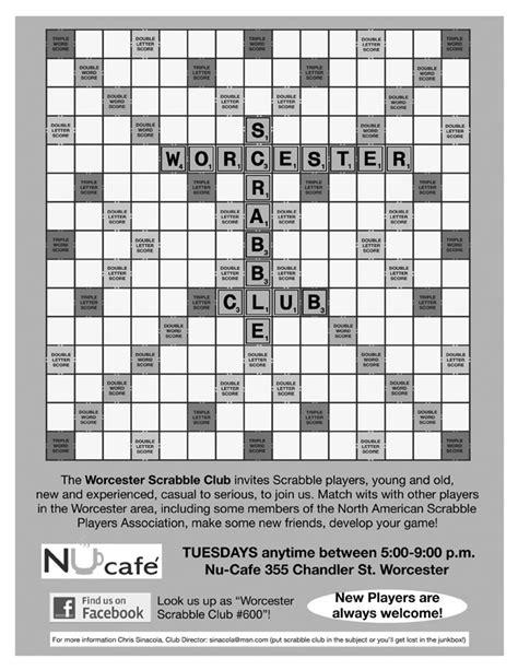 scrabble players association worcester scrabble club 600 dsquared org