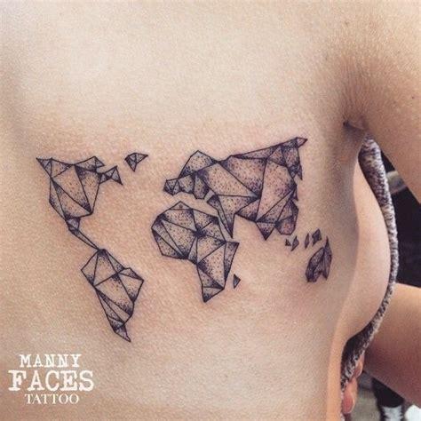 map of the world tattoo geometric world map minimal tattoos