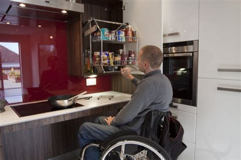 wheelchair accessible kitchen design white gloss kitchen by access matters 171 design matters