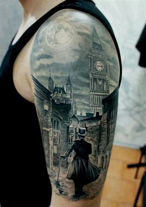 clock tower tattoo clock tower cool eyecatching tatoos tattoos